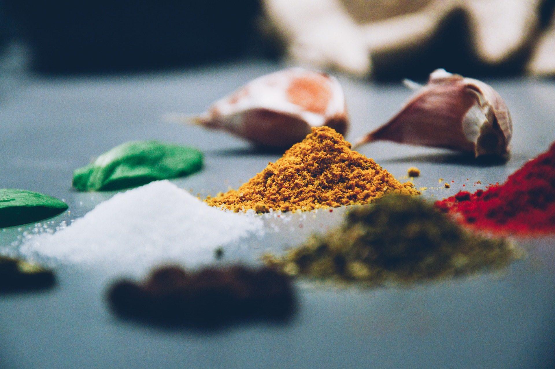 التوابل, الأعشاب, المكونات, ثوم, الملح, كاري, نكهة - خلفيات عالية الدقة - أستاذ falken.com