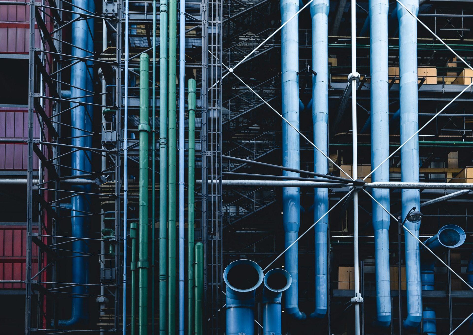 fábrica, tubos, conexões, indústria, Equipamentos, estruturas - Papéis de parede HD - Professor-falken.com