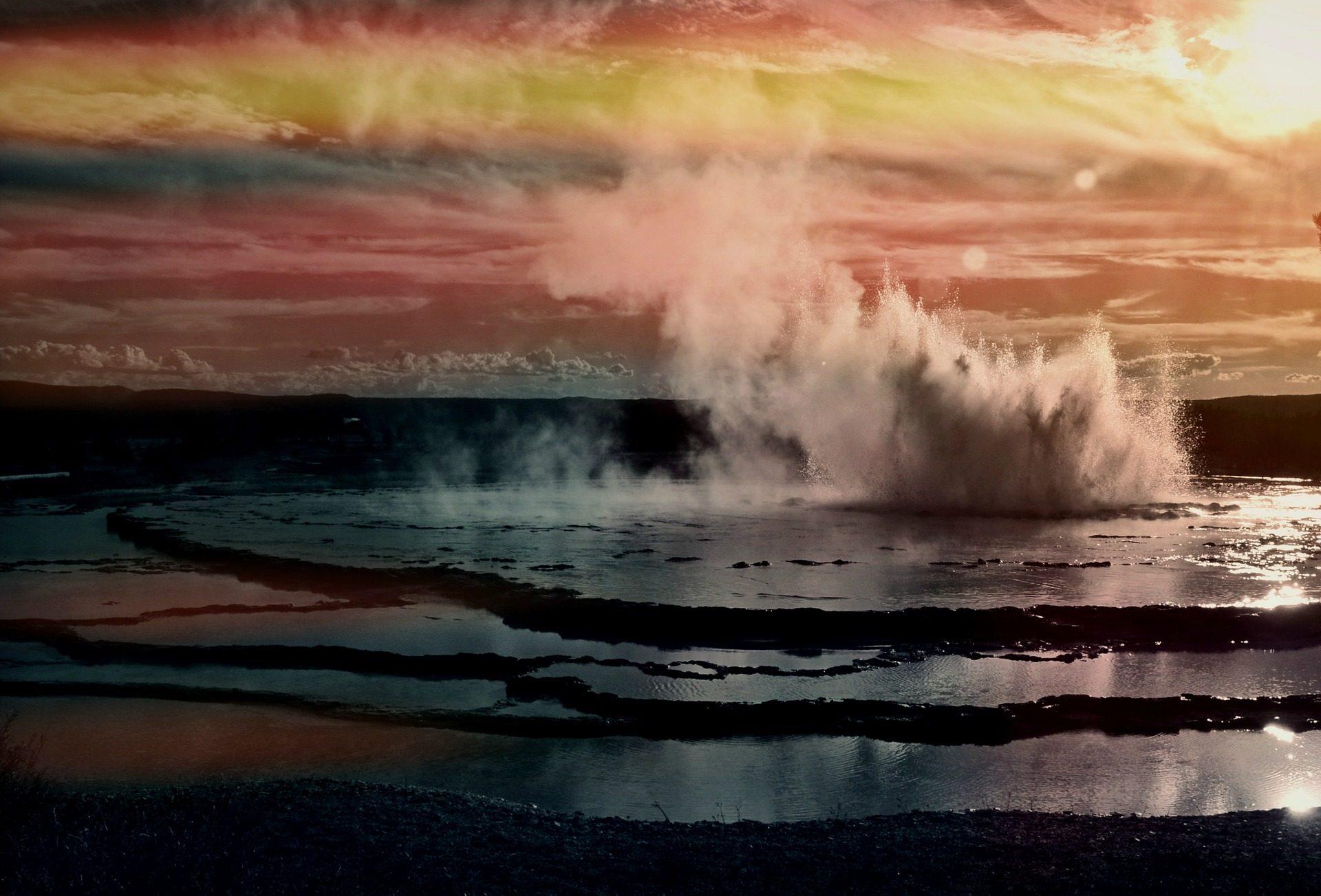 Geysir, Wasser, Dampf, Wärme, thermische, Yellowstone - Wallpaper HD - Prof.-falken.com