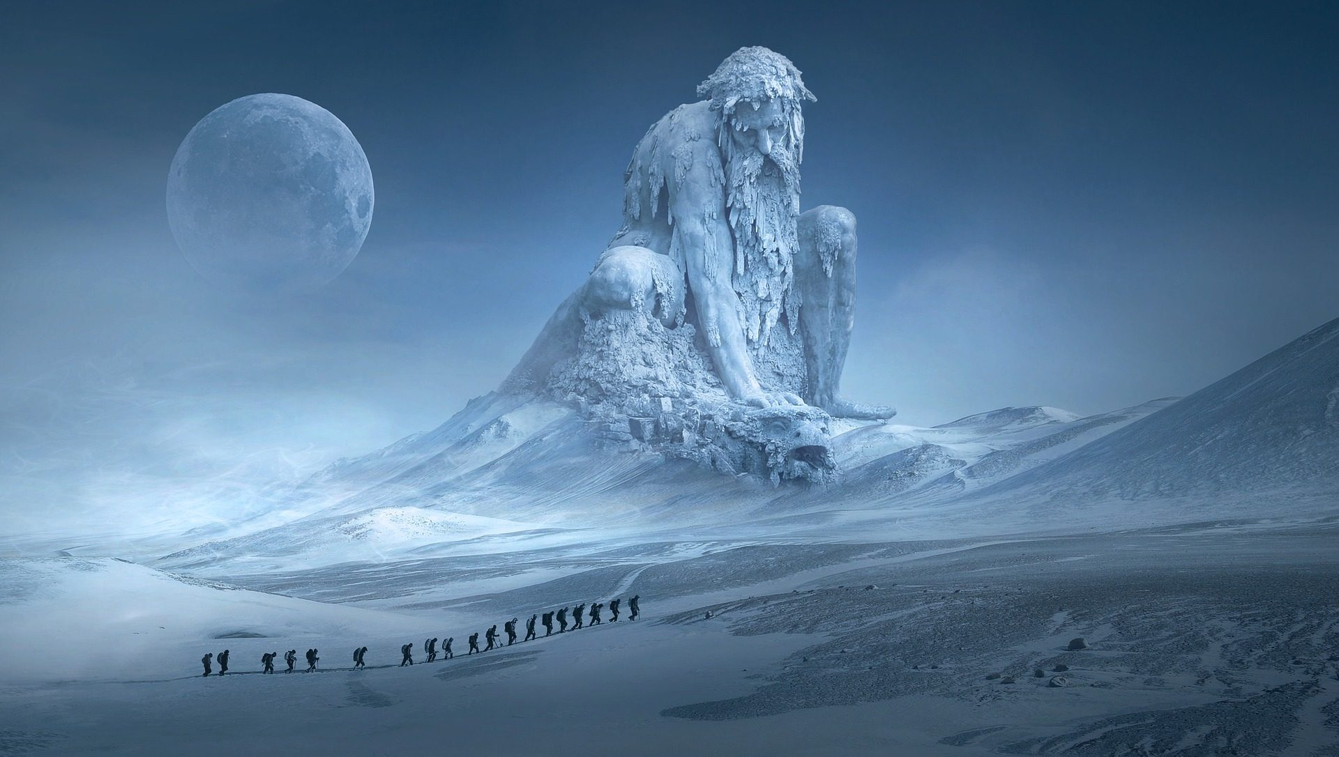 Riese, Eis, Festung, Mond, Expedition - Wallpaper HD - Prof.-falken.com