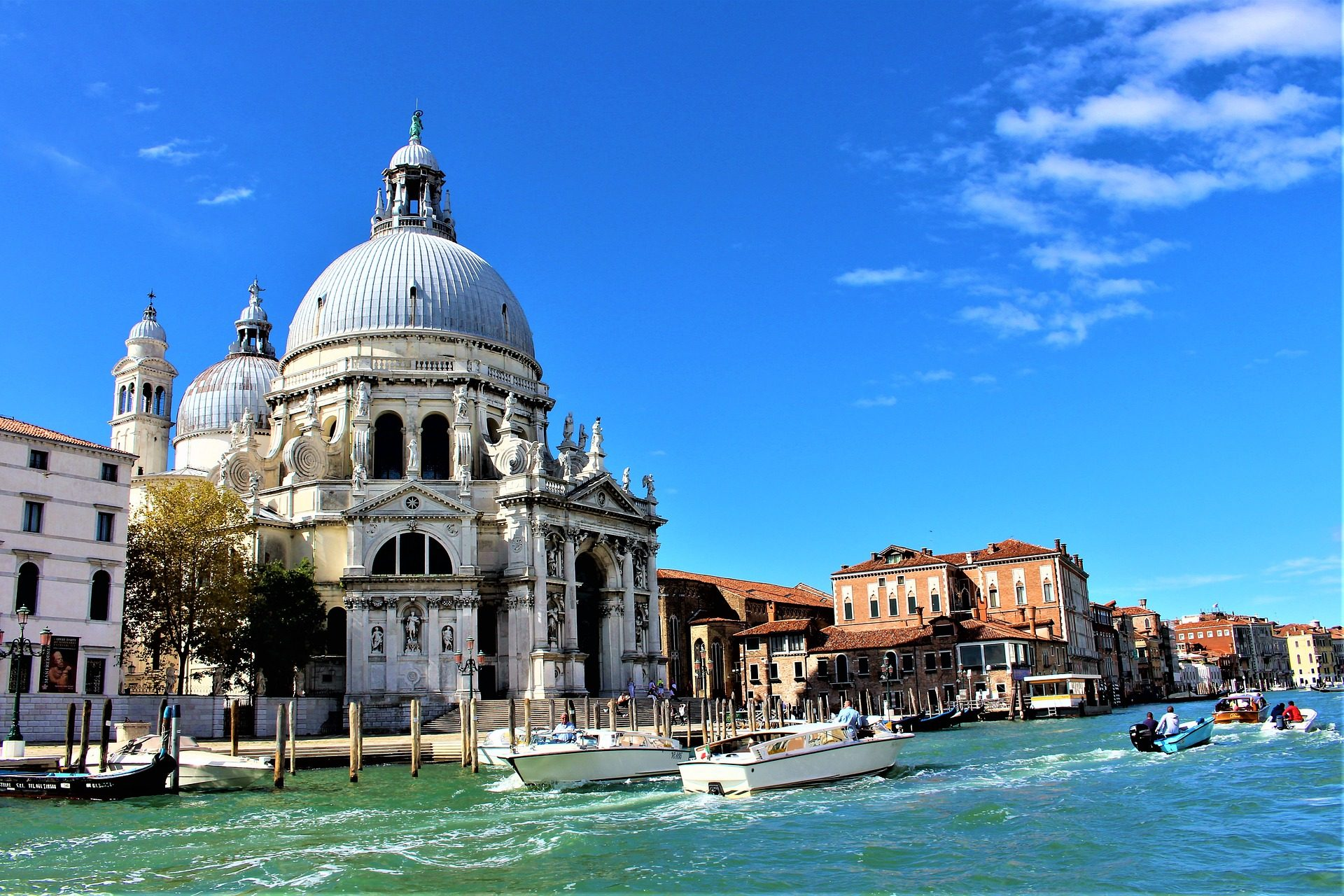 Igreja, Catedral, canal, Barcos, Cidade, Veneza - Papéis de parede HD - Professor-falken.com