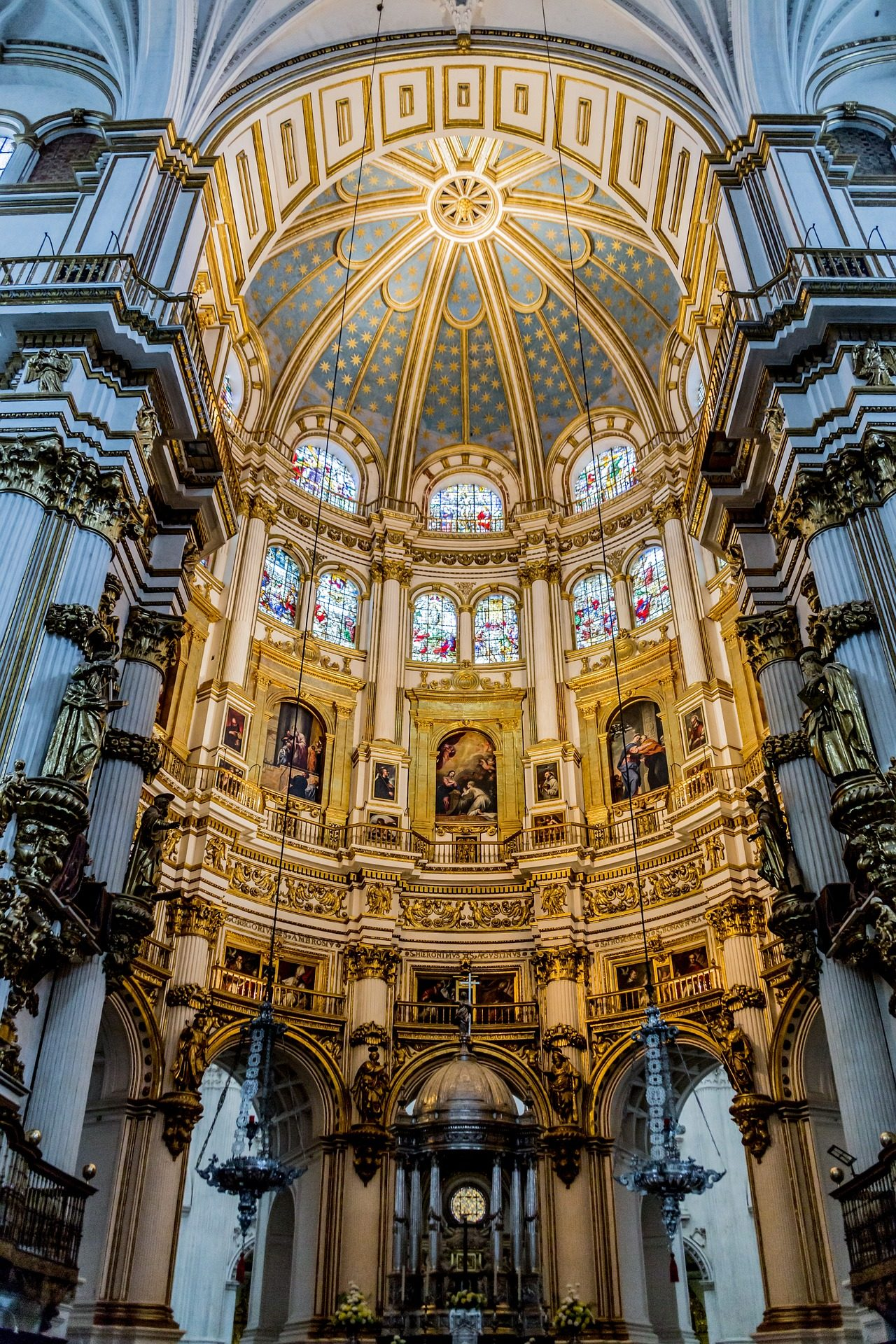 iglesia, templo, bóveda, catedral, ornamentación, granada - Fondos de Pantalla HD - professor-falken.com