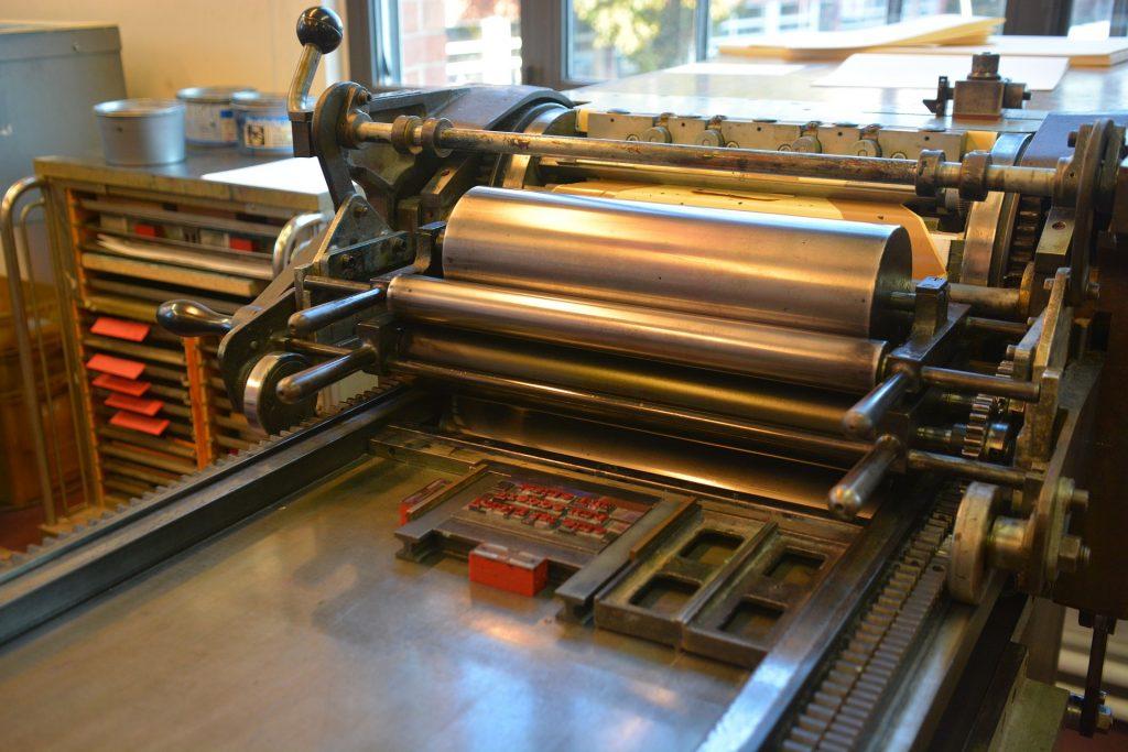 imprenta, rodillos, impresión, tinta, antigua, vintage, 1804240822