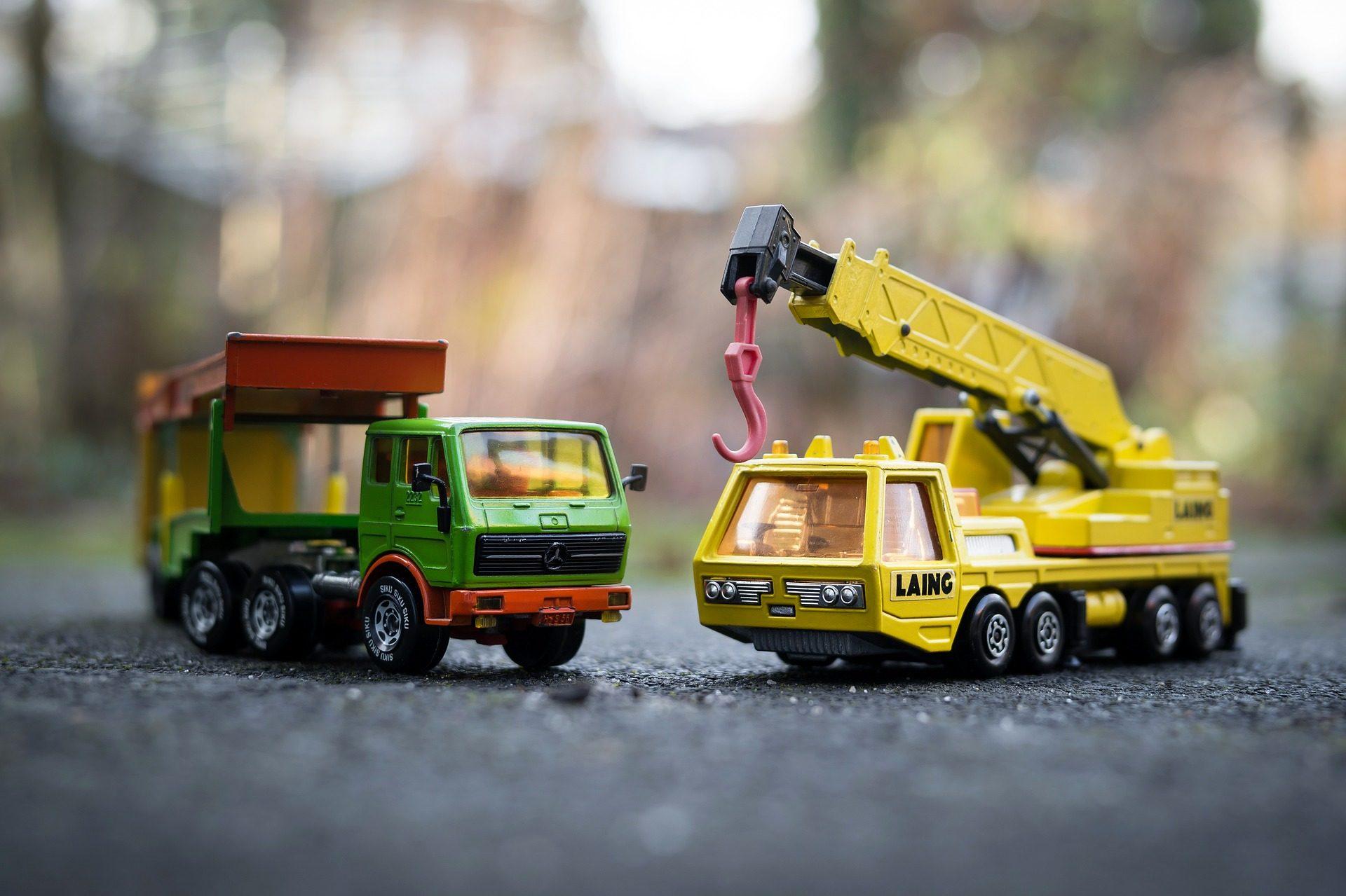 παιχνίδια, αυτοκίνητα, φορτηγό, Γερανός, οχήματα - Wallpapers HD - Professor-falken.com