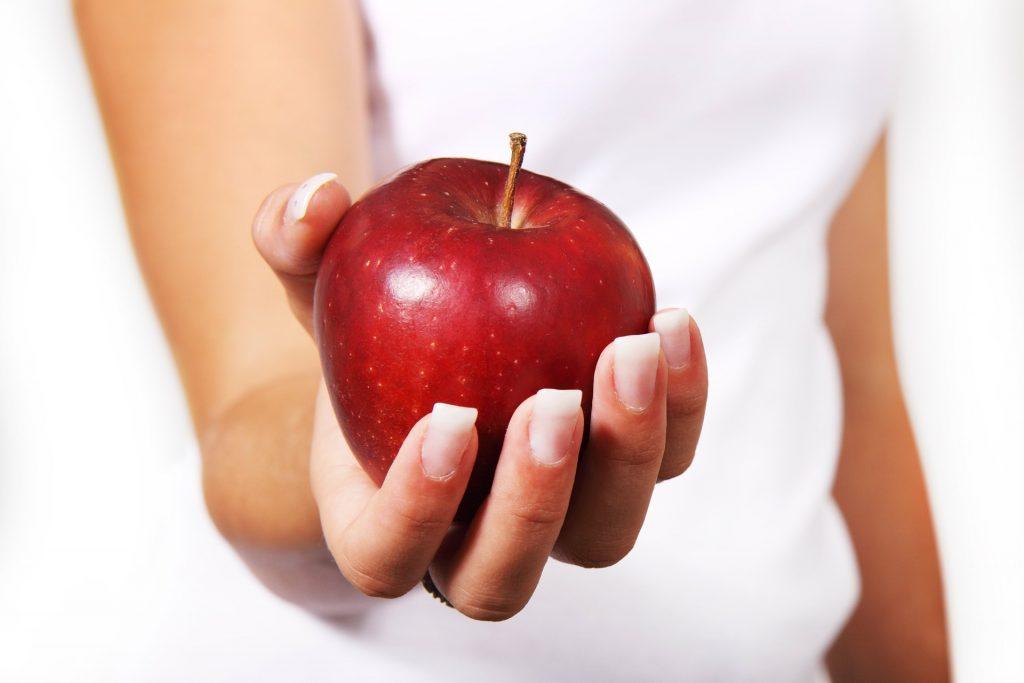 苹果, 手, 女人, 健康, 指甲, 1804082124
