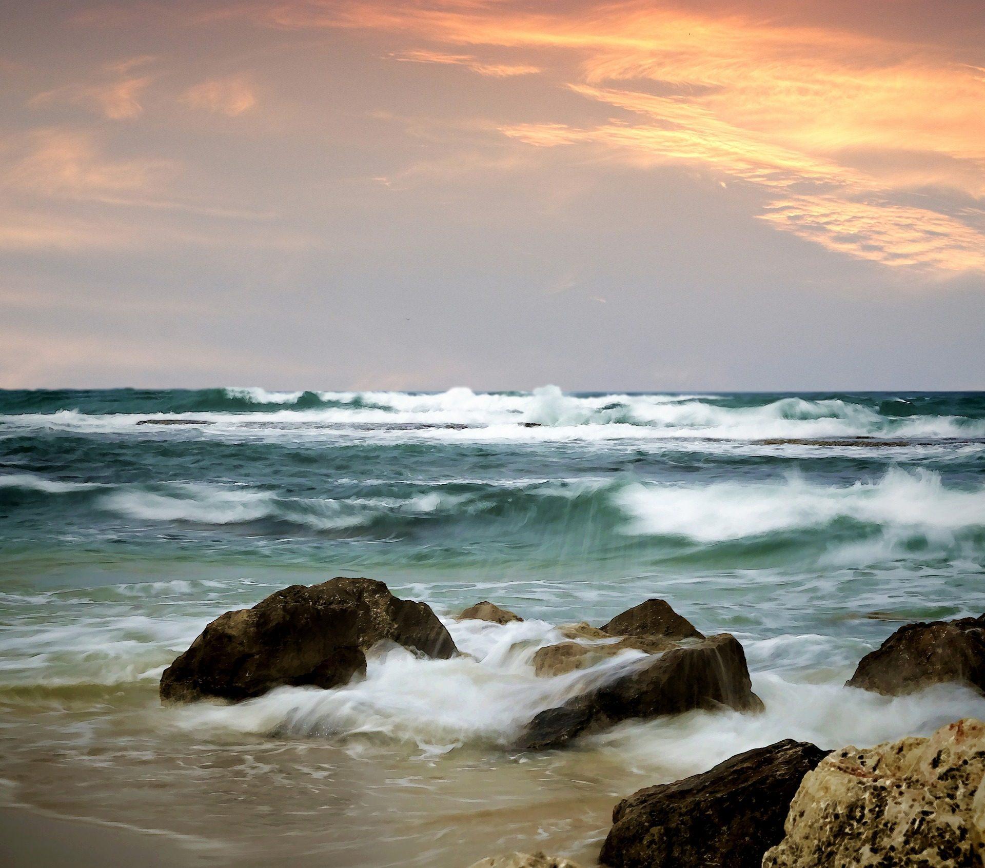 البحر, الشاطئ, الصخور, موجات, الأحجار, المحيط, المياه, السماء - خلفيات عالية الدقة - أستاذ falken.com