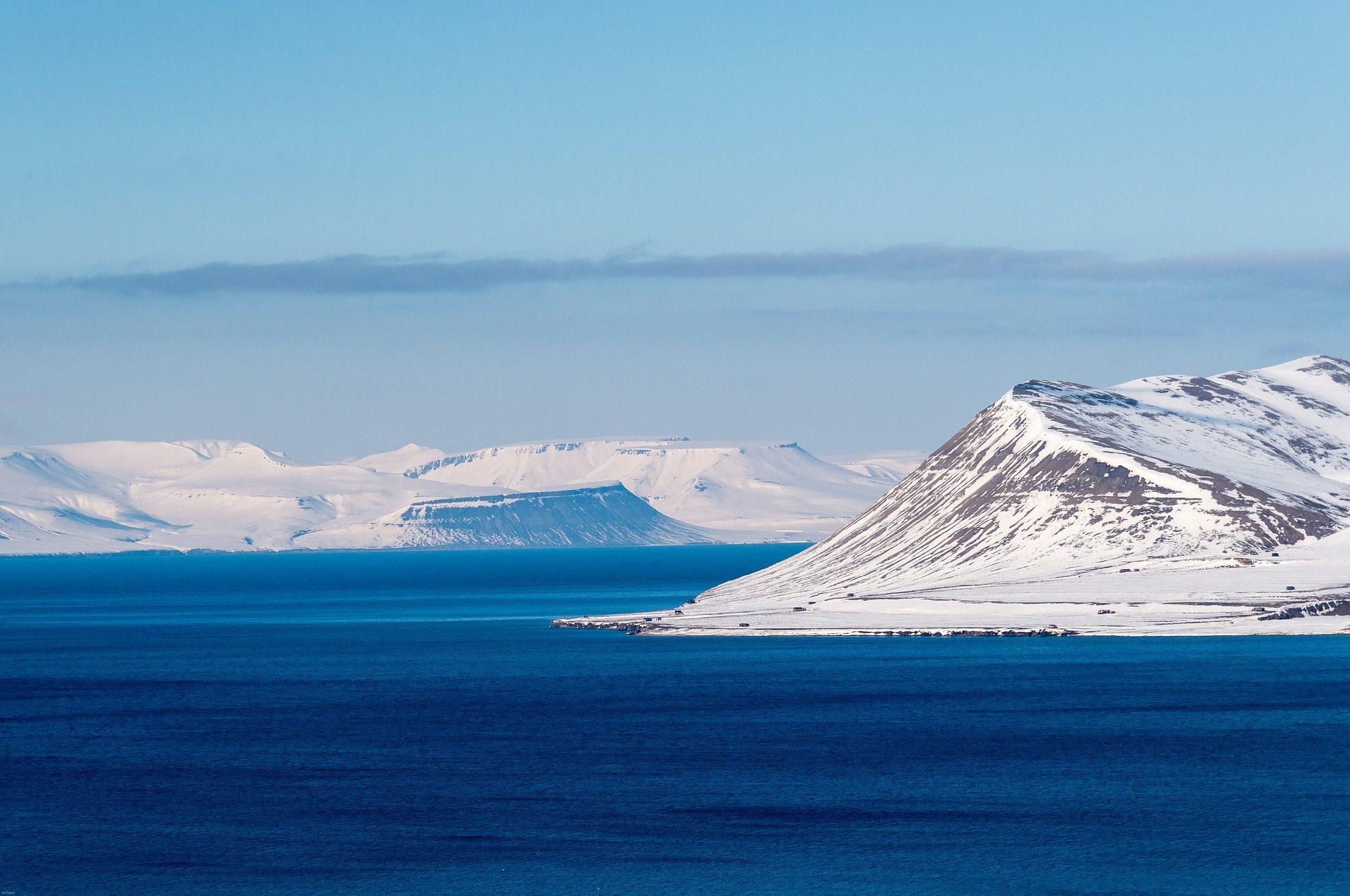 Montañas, 雪, 地平线, 距离, 斯瓦尔巴特, 挪威 - 高清壁纸 - 教授-falken.com