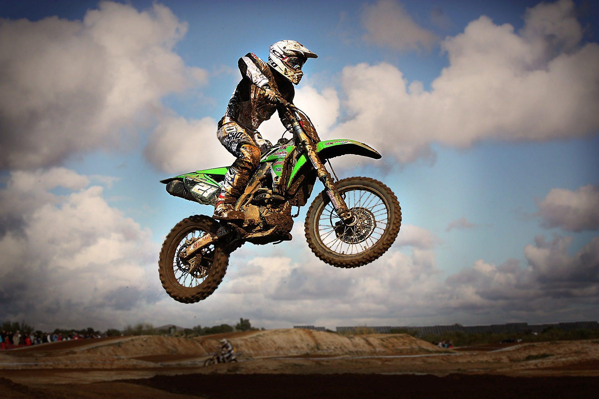 Moto, Μοτοκρός, άλμα, Πιρουέτα, ανταγωνισμού, λάσπη, κινδύνου - Wallpapers HD - Professor-falken.com
