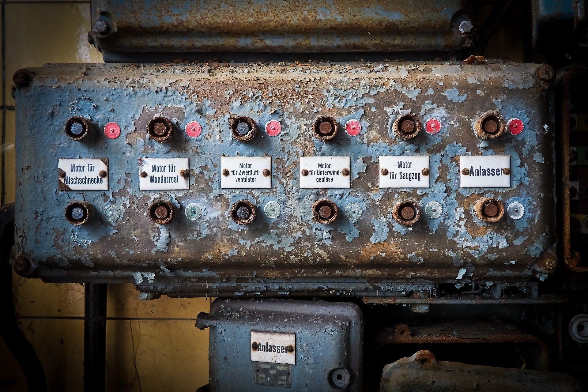 Группа, переключатели, кнопки, Старый, Ржавая, брошенные - Обои HD - Профессор falken.com