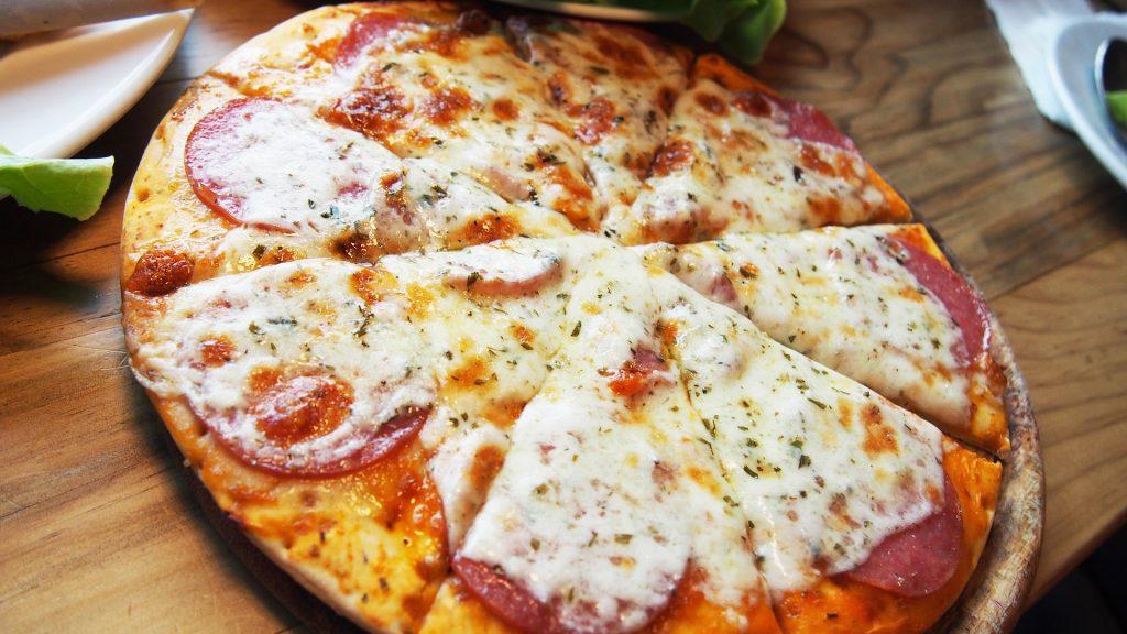 披萨, 奶酪, 香肠, 番茄, au 焗, 1804242206