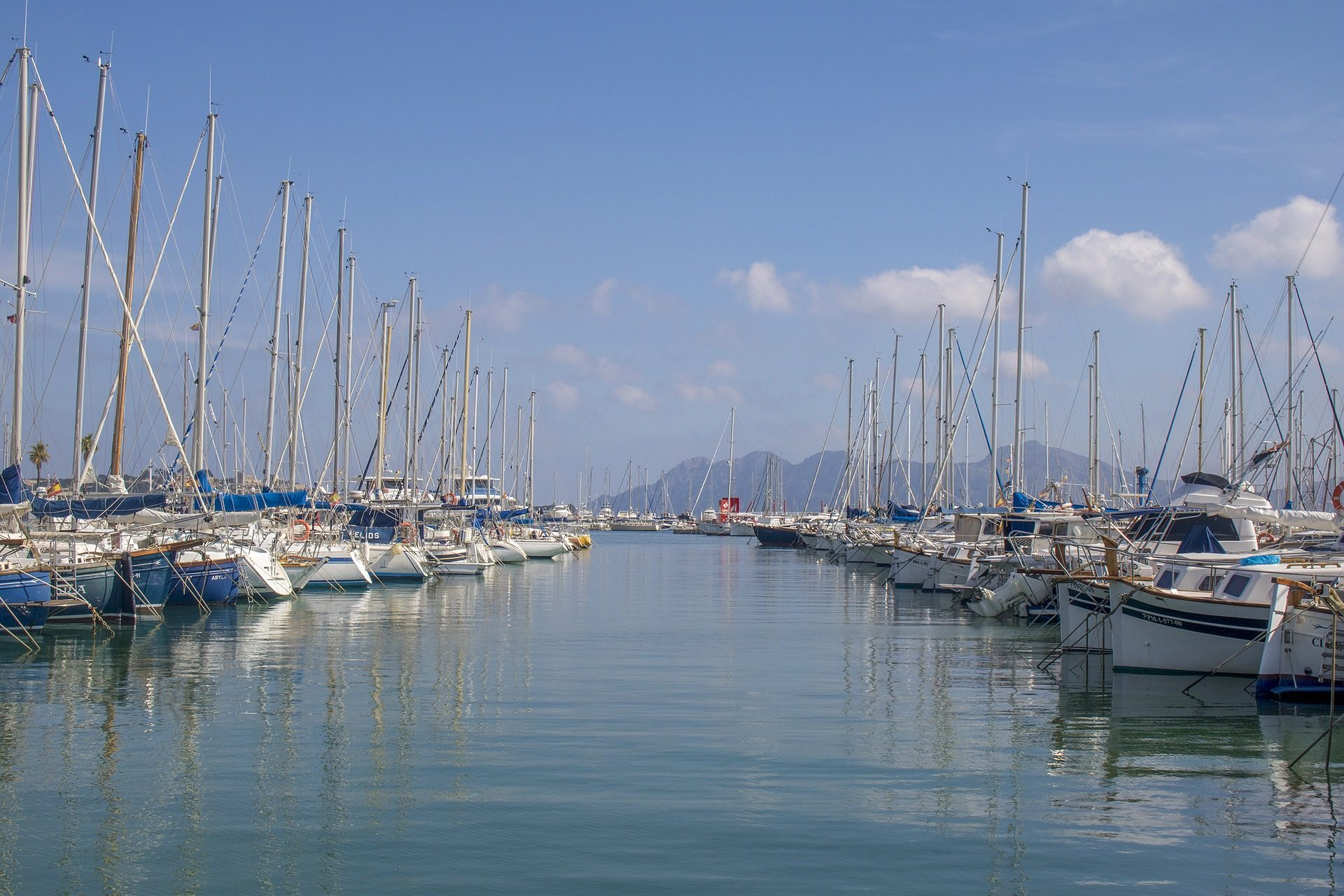 port, bateaux, Embarcadero, Mer, yachts, Mallorca - Fonds d'écran HD - Professor-falken.com