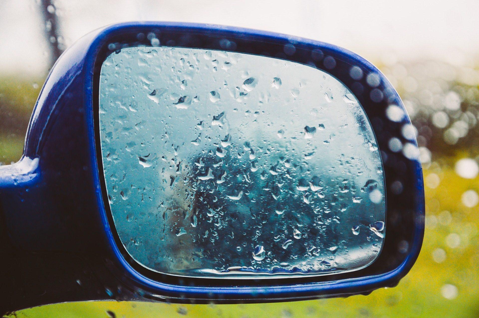 retrovisor, καθρέφτης, αυτοκίνητο, σταγόνες, νερό, βροχή - Wallpapers HD - Professor-falken.com