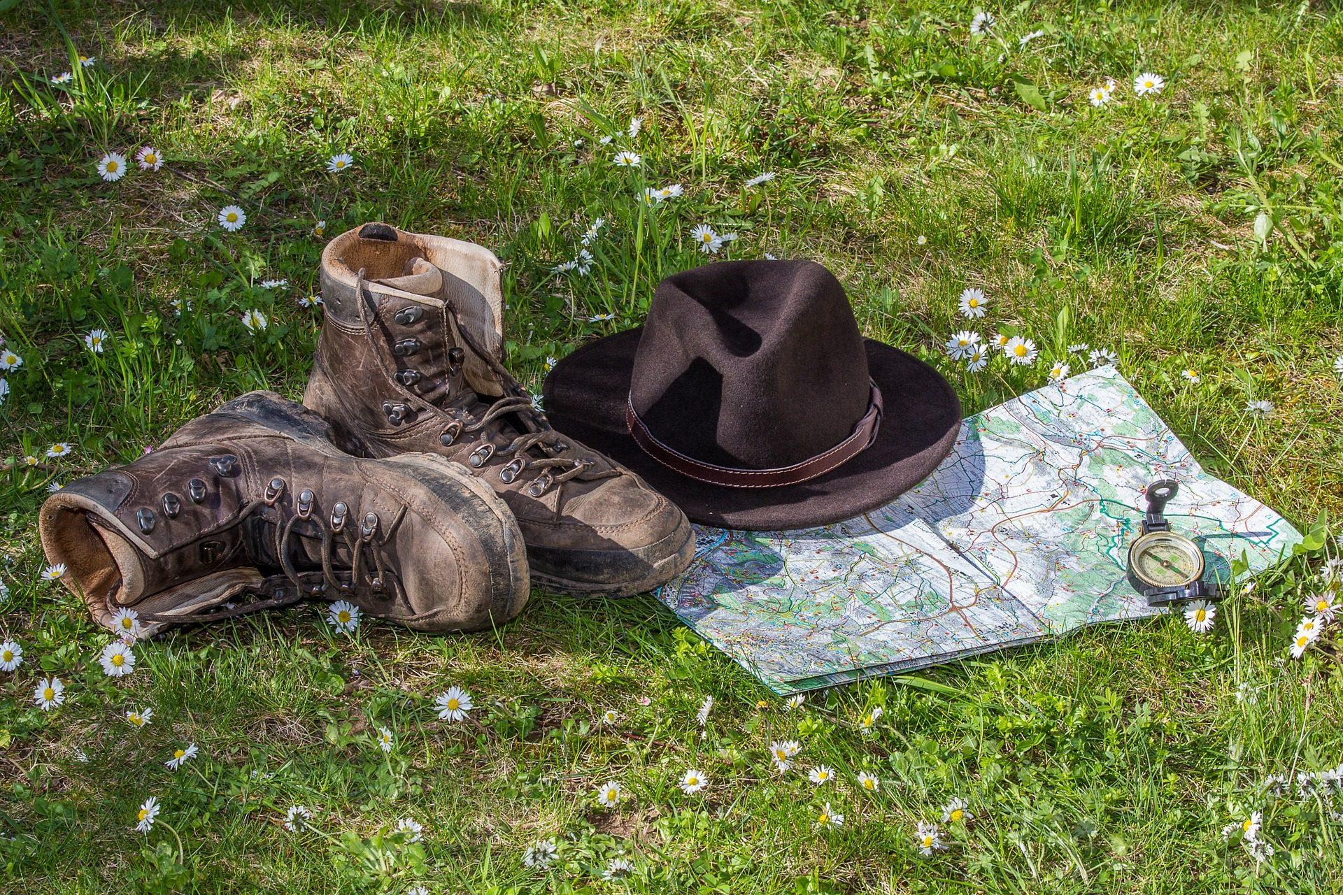帽子, 靴子, 地图, brújula, 冒险, 玛格丽塔酒 - 高清壁纸 - 教授-falken.com