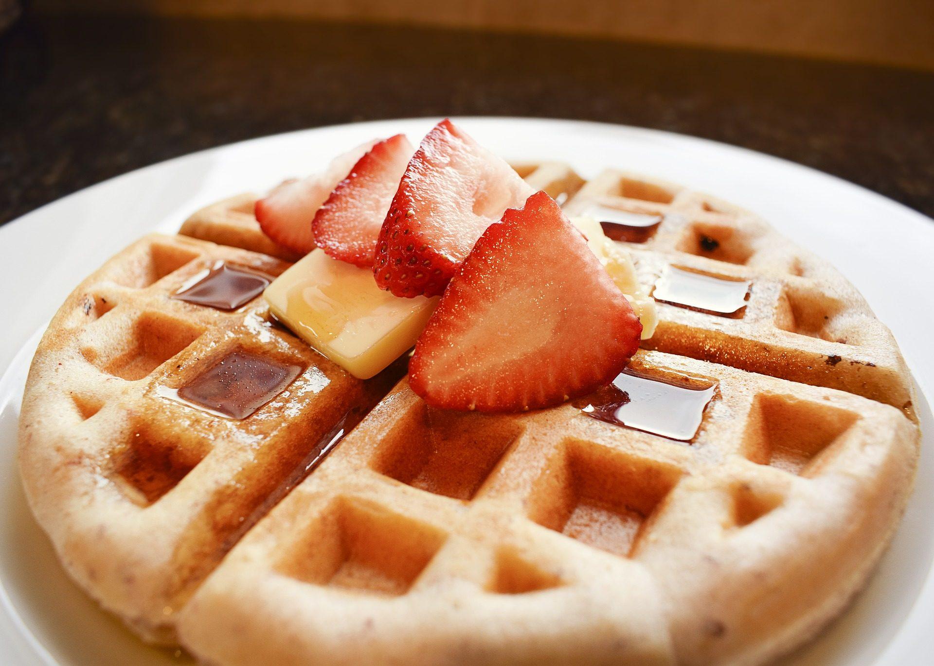 Вафельные, сливочное масло, Клубника, фрукты, Завтрак, сладкий, десерт - Обои HD - Профессор falken.com