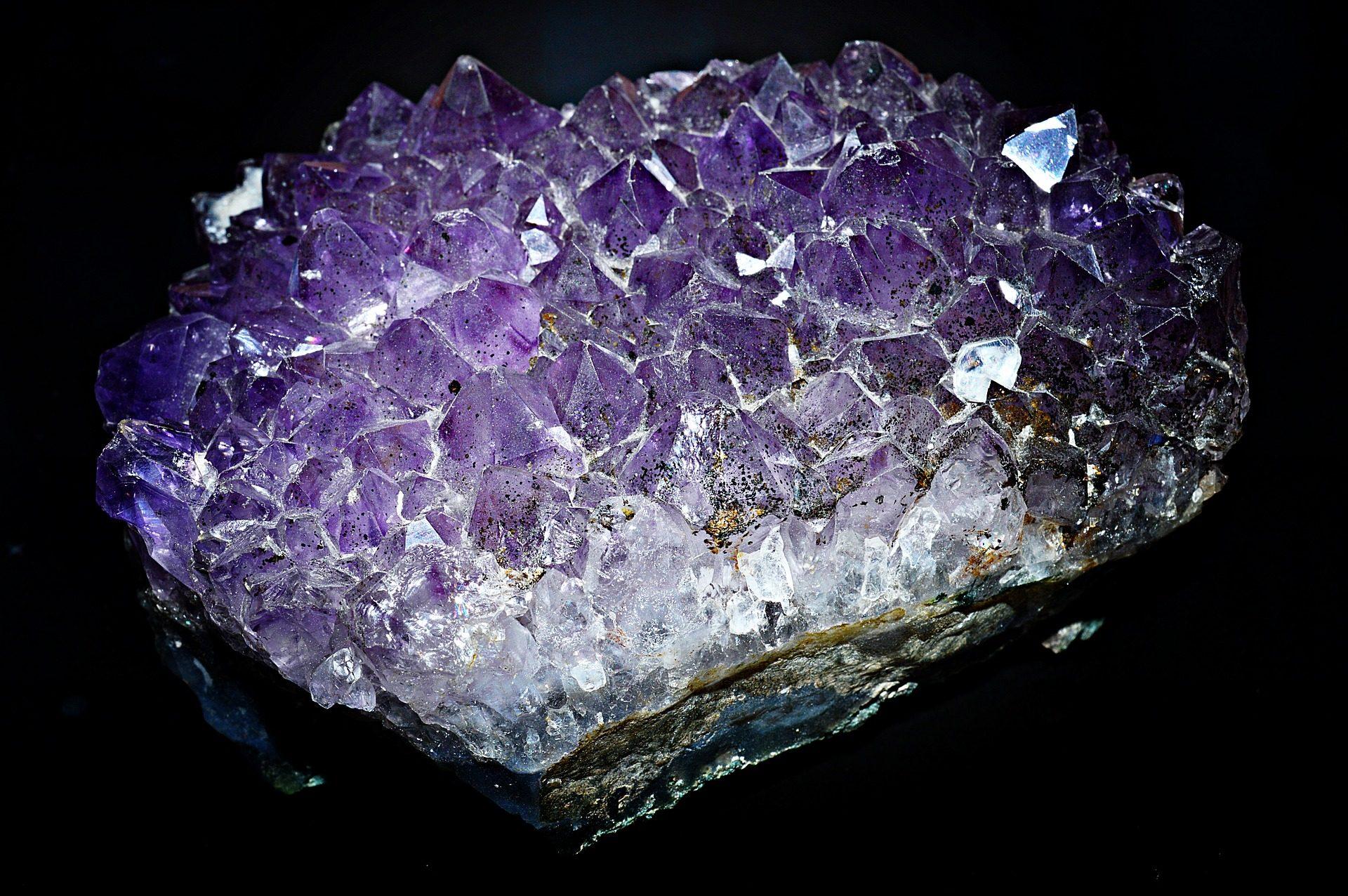 amatista, mineral, roca, cristales, púrpura, geometría - Fondos de Pantalla HD - professor-falken.com