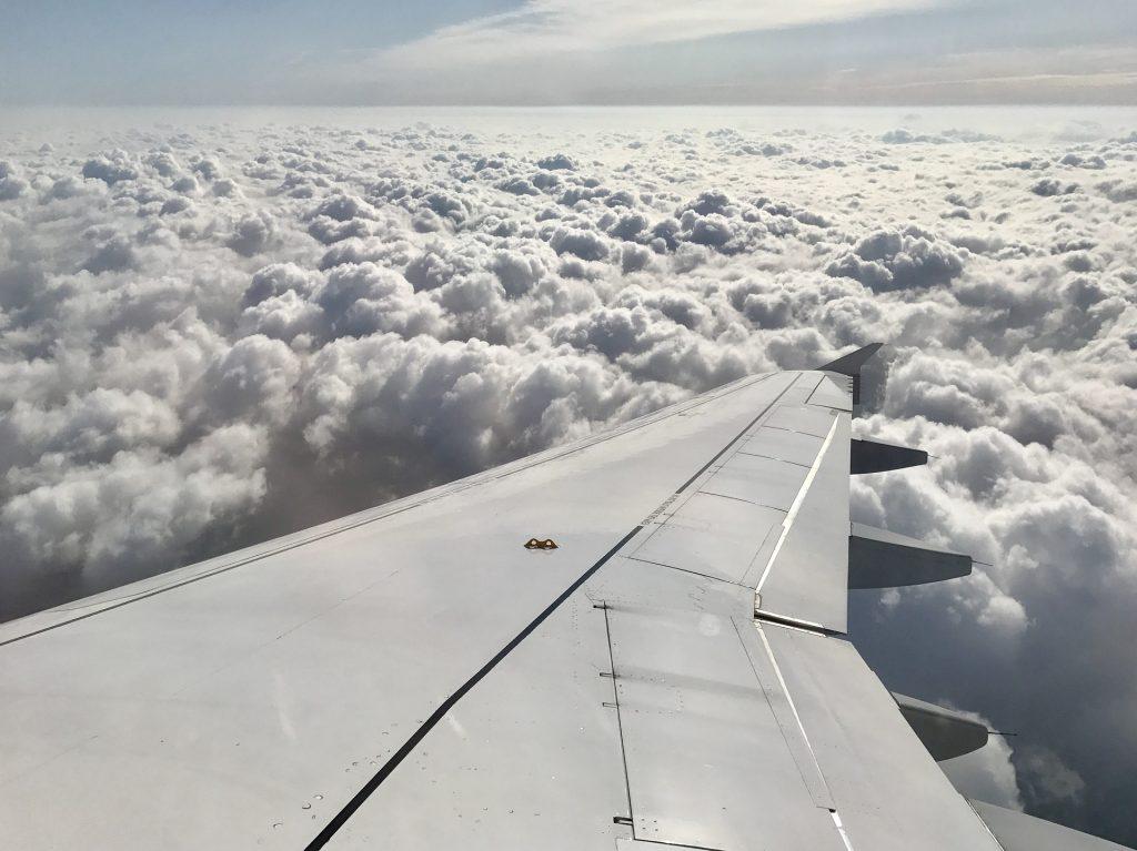 飞机, 翼, 云彩, 高地, 天空, 地平线, 1805142133