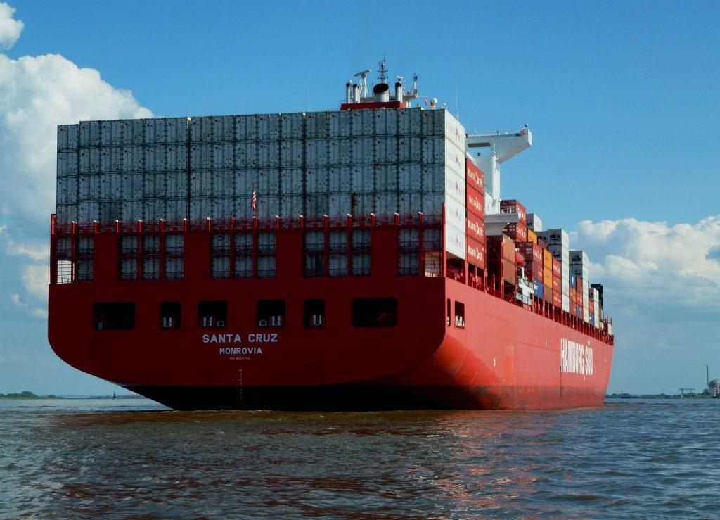 小船, 货船, 容器, 货物, 贸易, 1805211441