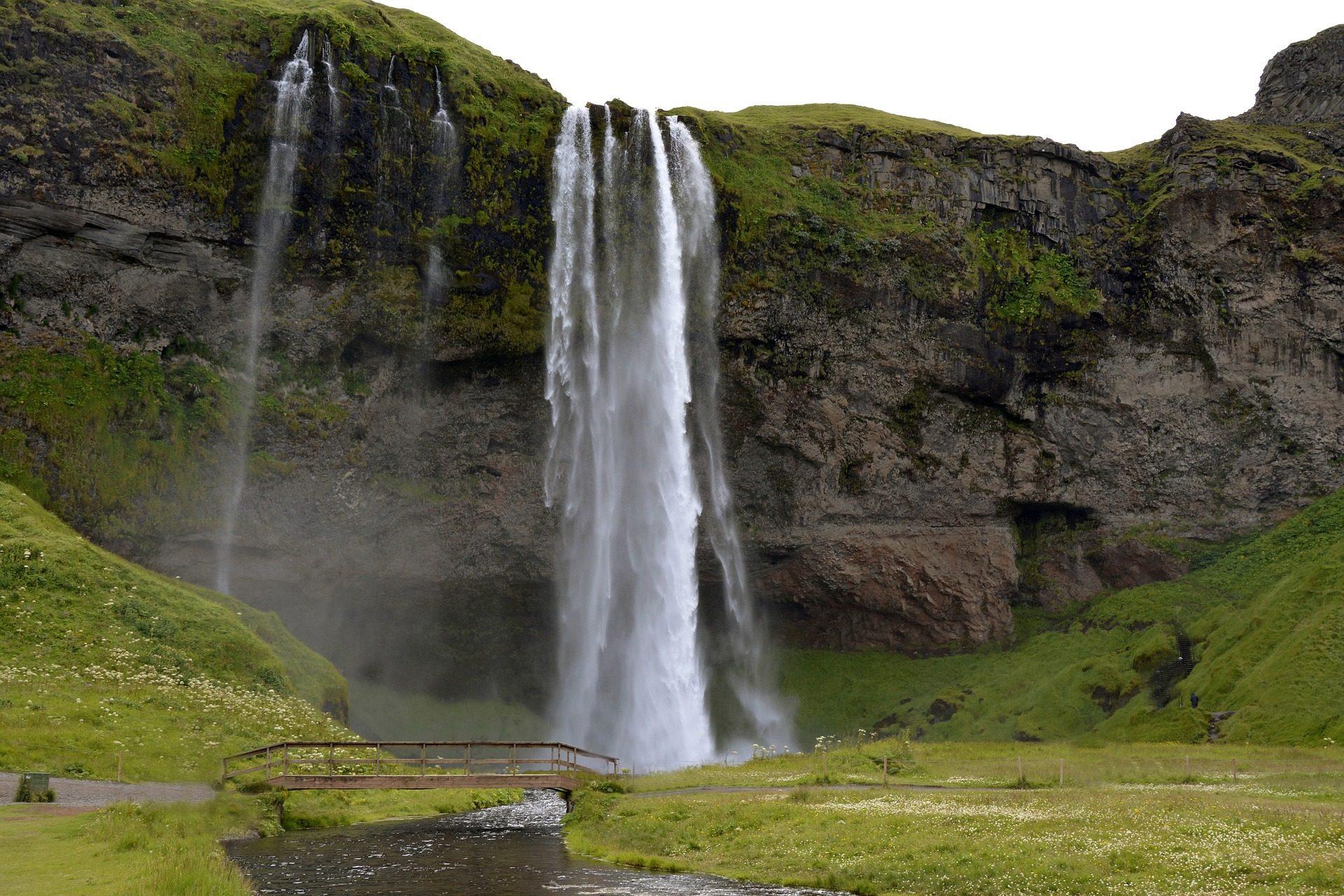 شلال, شلالات, الجبل, المياه, سيلجالانداسفوس, أيسلندا - خلفيات عالية الدقة - أستاذ falken.com