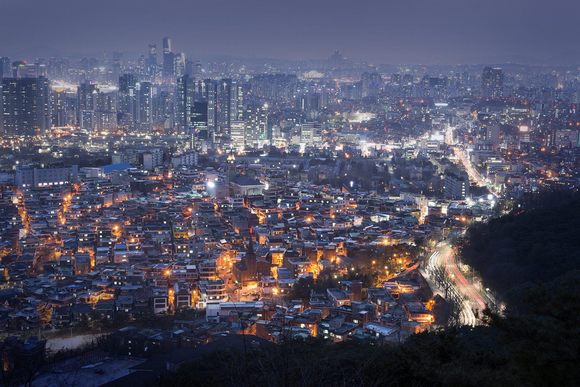 Città, notte, grattacielo, luci, agglomerazione - Sfondi HD - Professor-falken.com