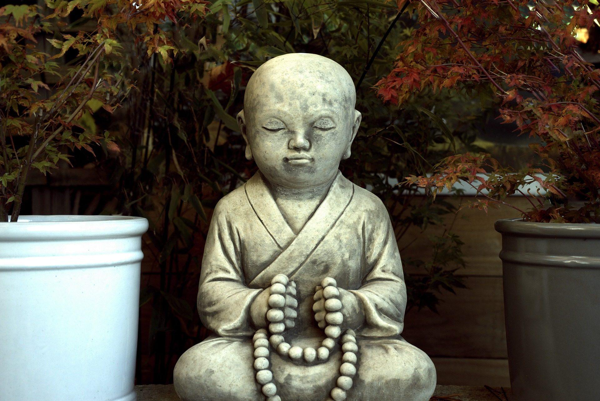 图, 雕塑, 雕像, 花园, 佛 - 高清壁纸 - 教授-falken.com