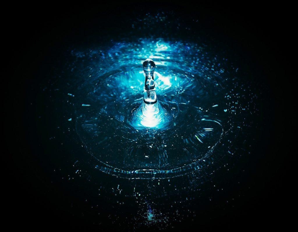 gota, agua, salpicadura, perturbación, ondas, 1805081929