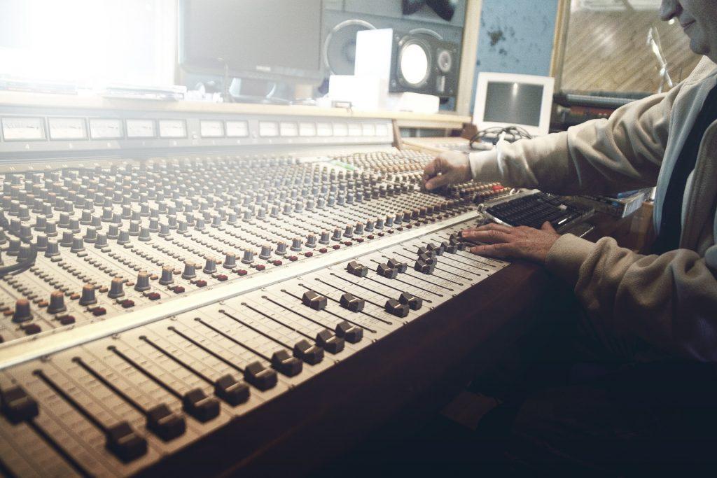 tabela, misturas, sons, botões de, canais, 1805222340