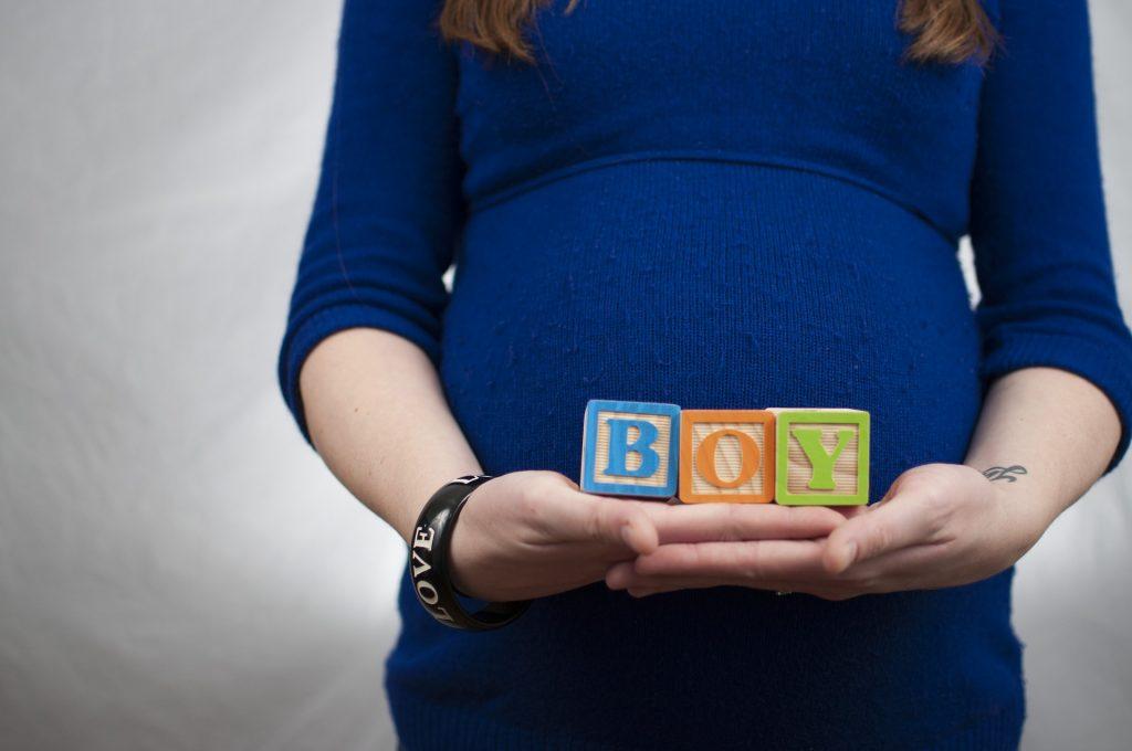 mujer, embarazada, letras, cubos, niño, 1805221225