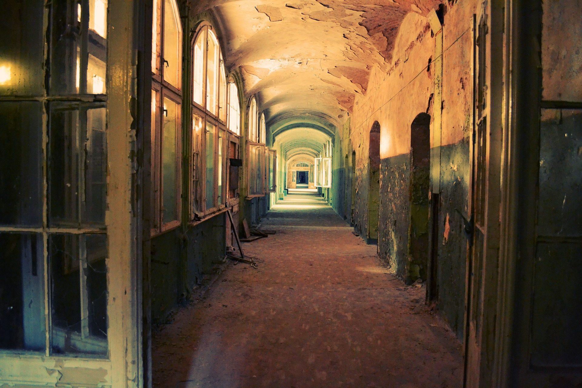 pasillo, ホール, ドア, 建物, 放棄, 古い - HD の壁紙 - 教授-falken.com