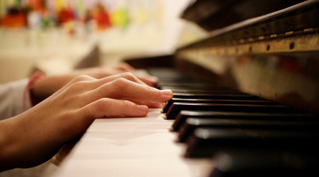Klavier, Hände, Schlüssel, Notizen, Tastatur, 1805232112