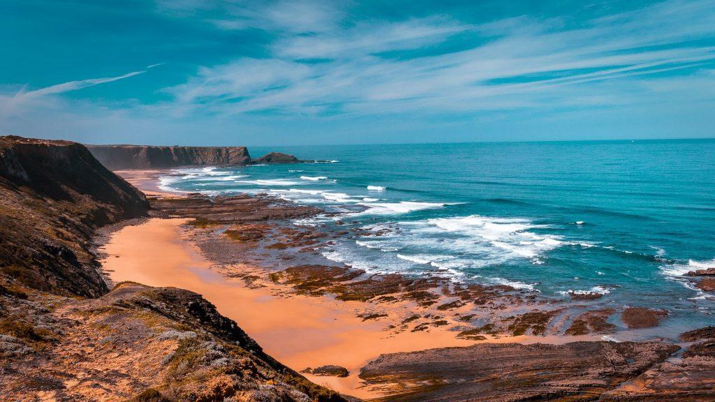 海滩, 海, 海洋, 悬崖, 石头, 奥, 1805181532