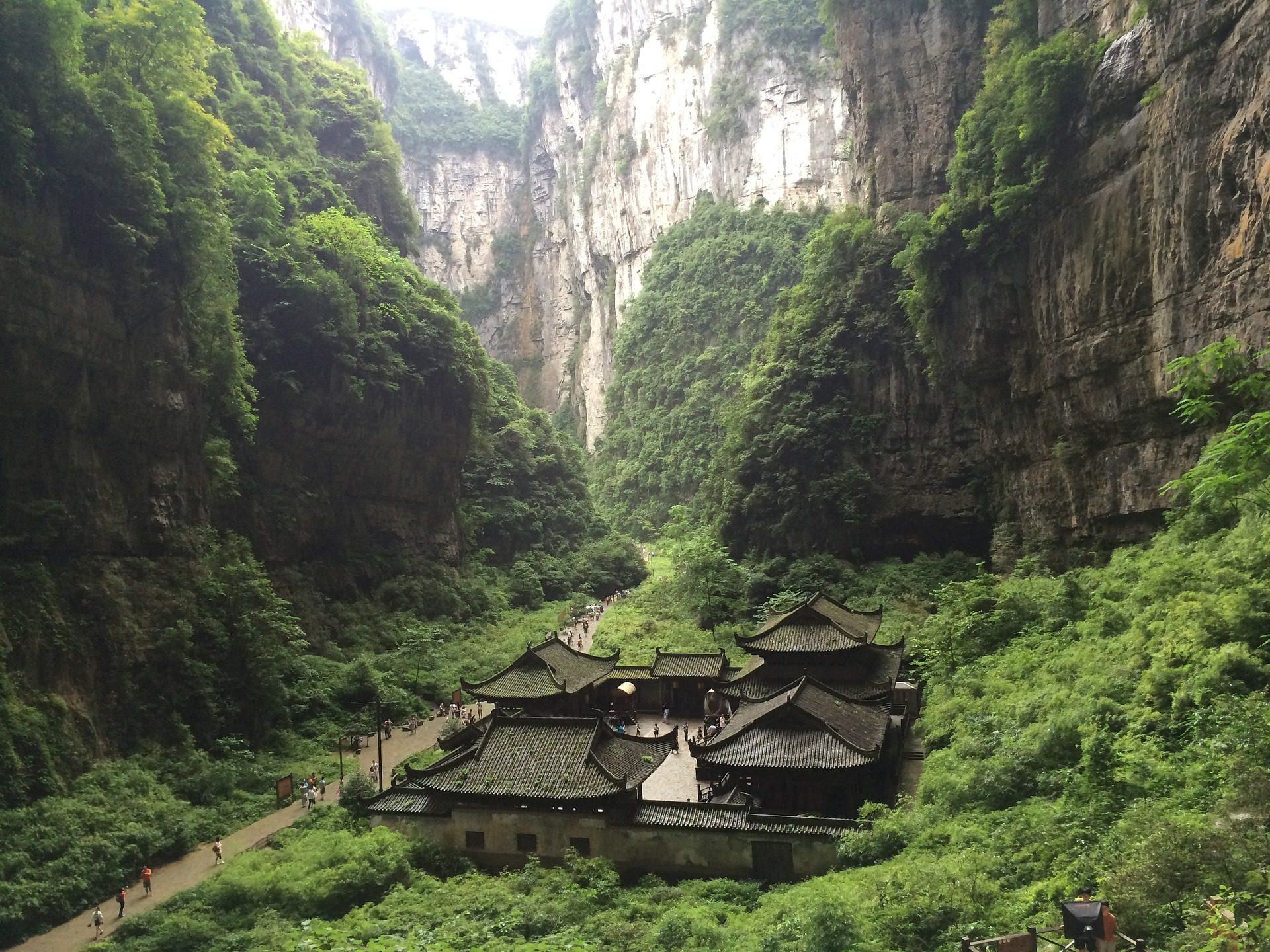 vila, montañas, vegetación, Oriental, Canon - Papéis de parede HD - Professor-falken.com