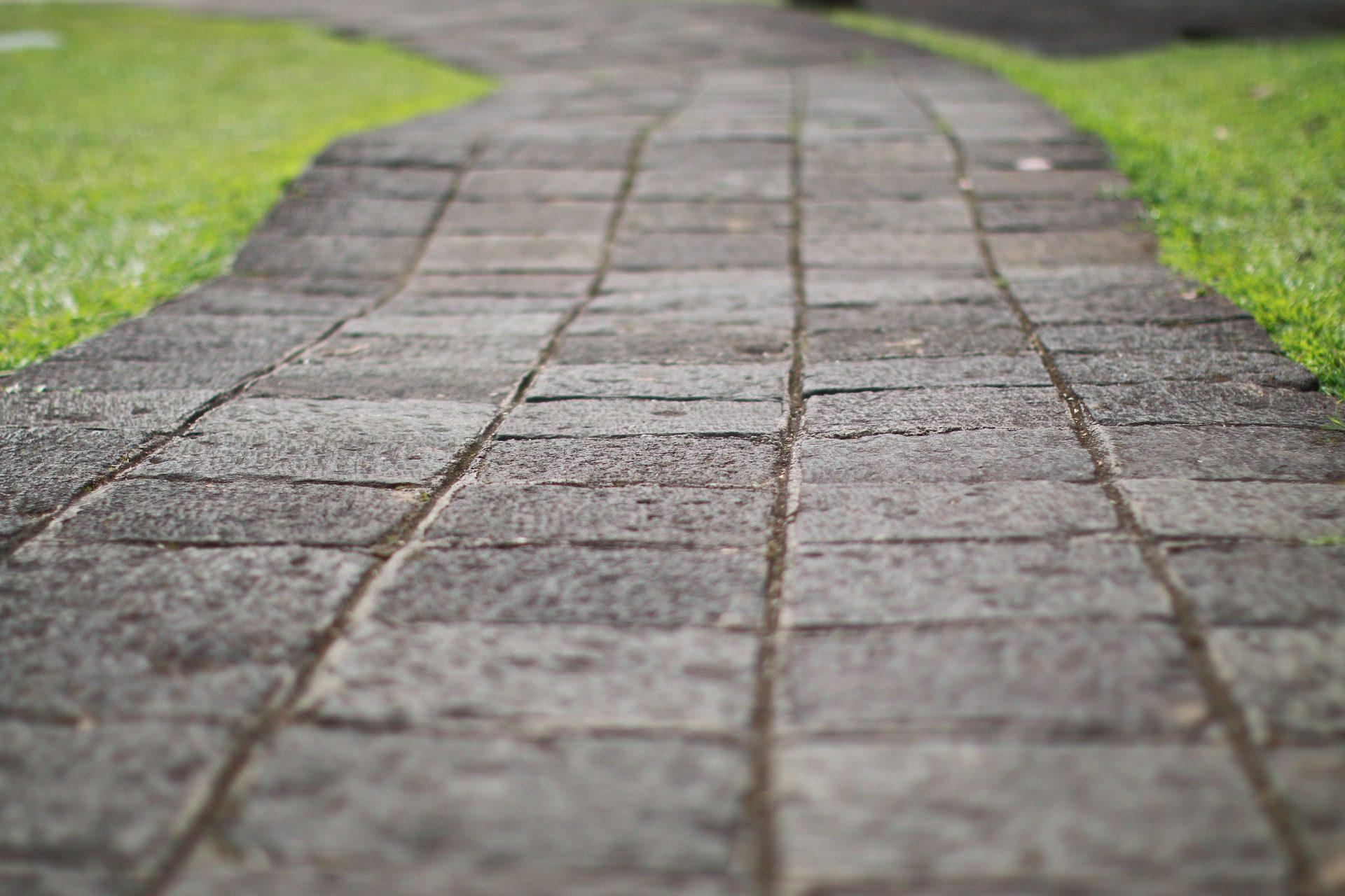 suelo, pasaje, camino, empedrado, hierba, jardín - Fondos de Pantalla HD - professor-falken.com
