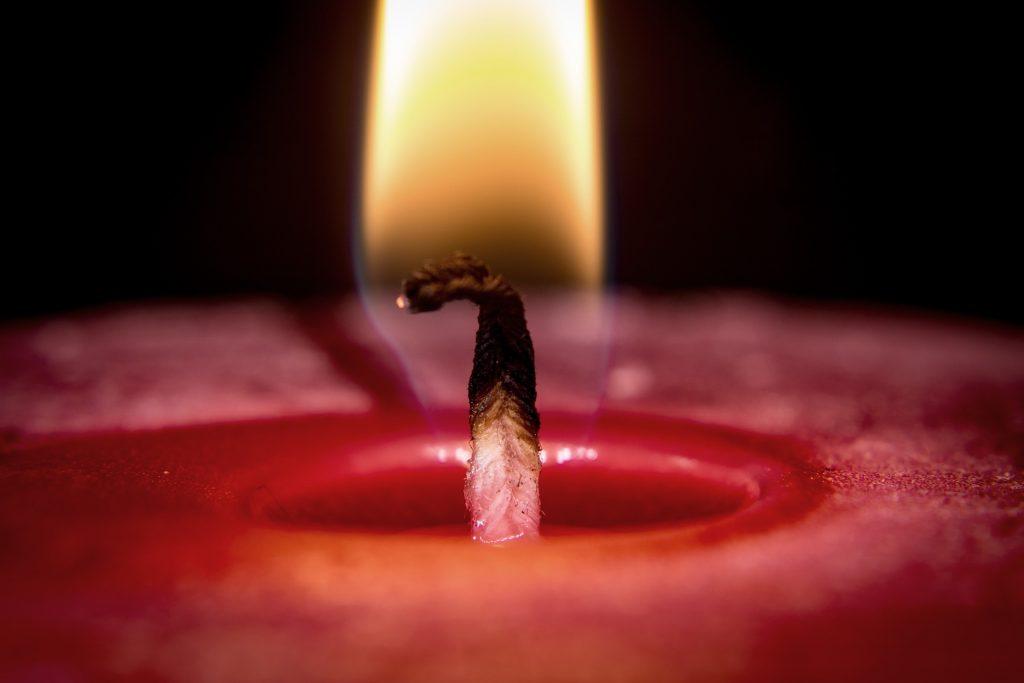 Kerze, Flamme, Docht, Wachs, Verbrennung, über, 1805221555
